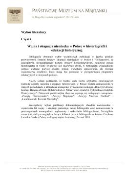 Wojna i okupacja niemiecka w Polsce w historiografii i edukacji