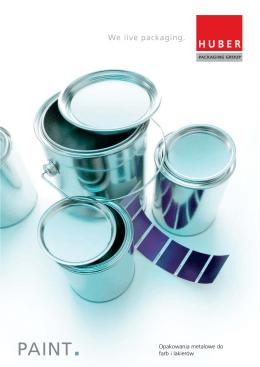 Opakowania metalowe do farb i lakierów