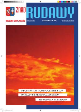 Kwiecień 2012 - Miesięcznik Znad Rudawy