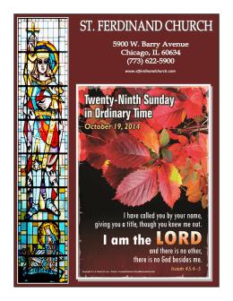 October, 19 - St Ferdinand Church