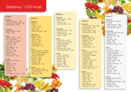 Dieta zestawy 1200 kcal