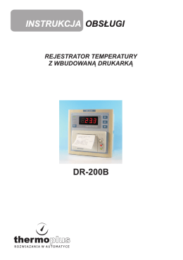 Rejestrator temperatury DR200B