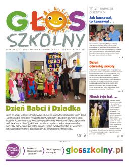 Pobierz>>> Głos Szkolny, wydany 25 lutego 2014r.