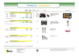 promocja Toolex 2012