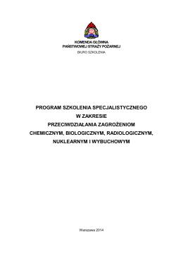Program szkolenia specjalistycznego w zakresie przeciwdziałania