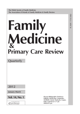 Contents - Family Medicine & Primary Care Review