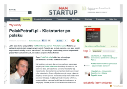 PolakPotrafi.pl - Kickstarter po polsku