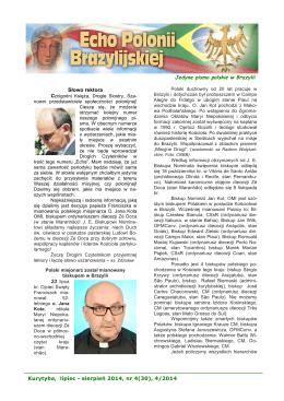 Kurytyba, lipiec - sierpień 2014, nr 4(30), 4/2014 Jedyne pismo