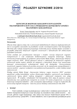 Gajewska T., Lorenc A. - Instytut Pojazdów Szynowych Politechniki