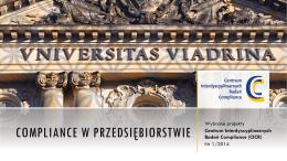 Sprawozdanie z działalności CICR - European University Viadrina