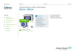 RIA14 / RIA16 (PDF 2,14 MB) - E-direct