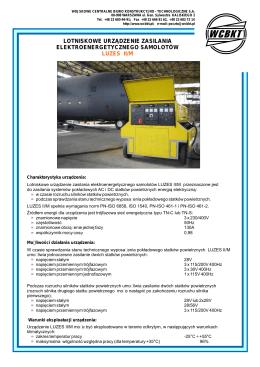lotniskowe urządzenie zasilania elektroenergetycznego samolotów