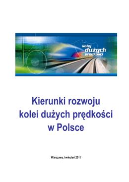 Kierunki rozwoju kolei dużych prędkości w Polsce