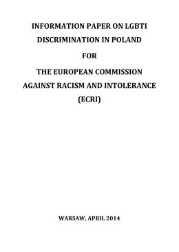 ecri - Polskie Towarzystwo Prawa Antydyskryminacyjnego