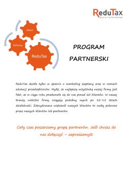 PROGRAM PARTNERSKI - Biuro rachunkowe ReduTax