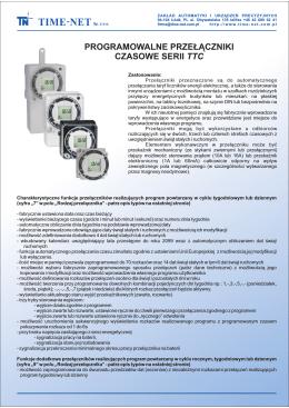 Programowalne przełączniki czasowe serii ttc
