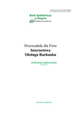 pobierz instrukcję - Bank Spółdzielczy w Stegnie
