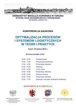 Program II Konferencji Naukowej - Wydział Nauk Ekonomicznych i