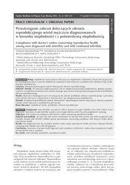 Original Papers - Family Medicine & Primary Care Review