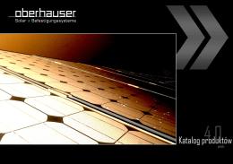 Katalog produktów - Oberhauser - Selfa-PV