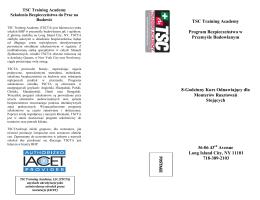 TSC Training Academy Program Bezpieczeństwa w Przemyśle