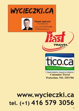 Katalog 2015 - Wycieczki.ca