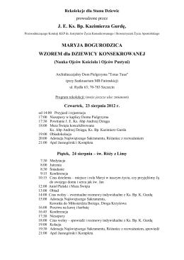 J. E. Ks. Bp. Kazimierza Gurdę, MARYJA BOGURODZICA WZOREM