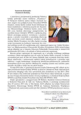 Biuletyn 2/2013 & 3/2013.pdf - Stowarzyszenie Polskich