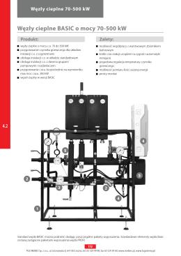 Węzły cieplne BASIC o mocy 70-500 kW