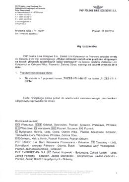 Pismo Prezesa ZPK w sprawie ulg przejazdowych
