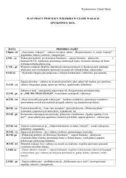 RODZINNE ODCHUDZANIE - Turnusy rehabilitacyjne