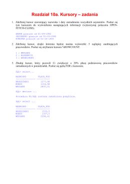 Zastosowanie procesorów masowo-równoległych w addytywnej