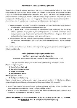 prezentacja - klasy I - Gimnazjum nr 1 w Redzie im. Lecha Wałęsy
