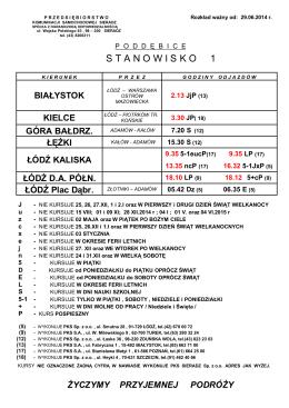 Rozkład jazdy komunikacji gminnej (od 3.02.2014)