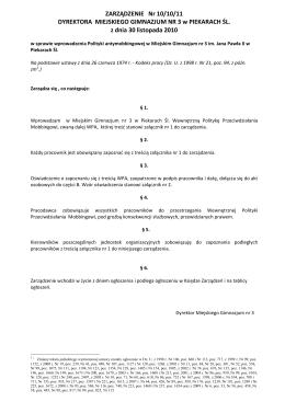 Polityka Antymobbingowa - Szkoła Muzyczna I stopnia w Dobczycach