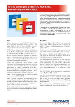Tabele sygnałów alarmowych (2013)