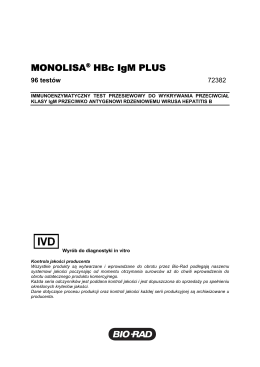 MONOLISA® HBs Ag ULTRA HBs Ag ULTRA - Bio-Rad