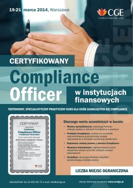 Wzrost efektywności działania komórki Compliance