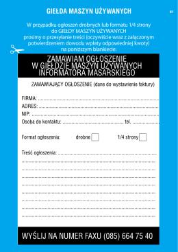 Formularz przystąpienia do Korpusu Solutoryjnego Wolnego