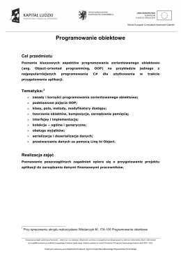Katalog elementów Wieże podporowe OC
