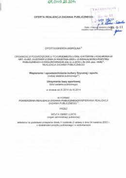 Oferta realizacji zadania publicznego - Gmina Gołuchów