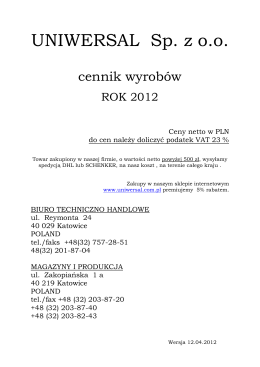 PCC - Podręcznik uźytkownika - raportowanie
