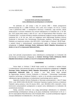 Postanowienie - Urząd Gminy Korczyna