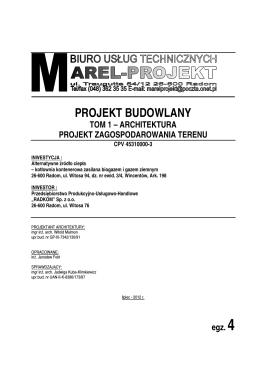 OFERTA dot.: wykonania prac projektowych budynku mieszkalnego