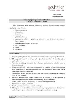 księga procedur higienicznych - Samodzielny Publiczny Zakład