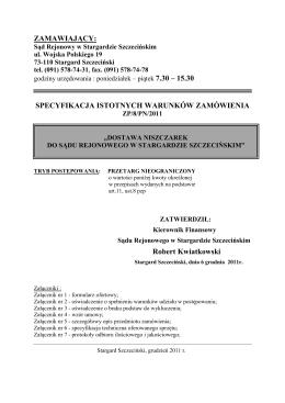 SIWZ - Zakład Utylizacyjny Sp. z oo