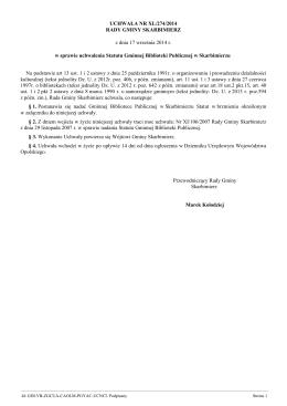 Zmiana statutu Miejskiej Biblioteki Publicznej w Gliwicach w części
