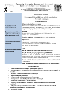 Podkarpacki Urząd Wojewódzki w Rzeszowie projekt