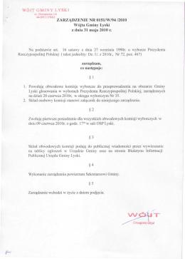 Zarządzenie nr 129/2014 Wójta Gminy Strzałkowo z dnia 5 maja
