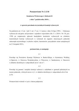 UCHWAŁA NR 6.2014 Gminnej Komisji Wyborczej w Bielawach z